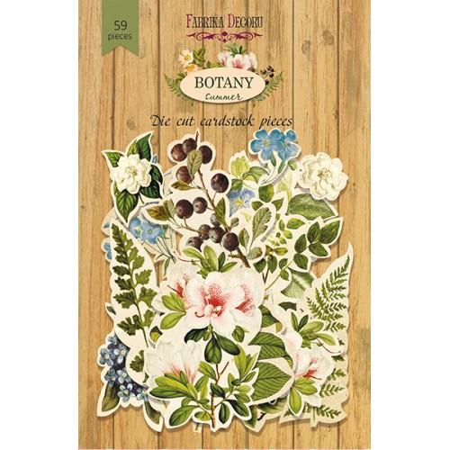 """Набор высечек """"Botany summer"""" Фабрика Декору, 58 шт"""