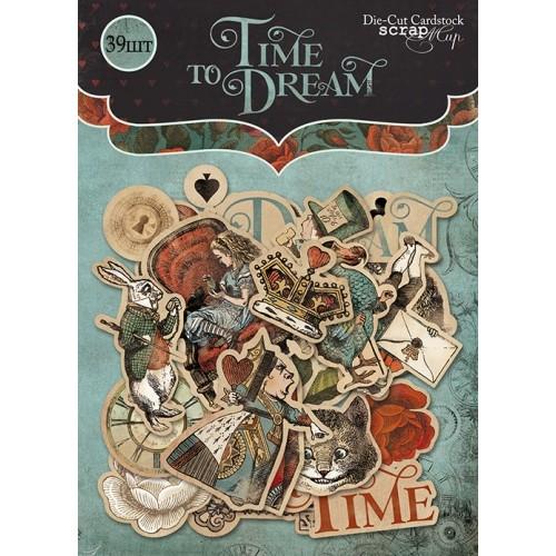 Набор высечек для скрапбукинга Time to Dream от Scrapmir 39 шт фото