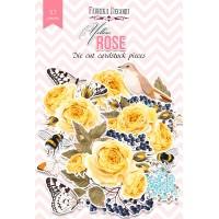 """Набор высечек """"Yellow Rose"""" Фабрика Декору, 57 шт"""