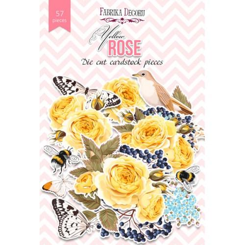"""Набор высечек """"Yellow Rose"""" Фабрика Декору 57 шт фото"""