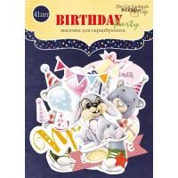 Набор высечек для скрапбукинга Birthday Party от Scrapmir, 41 шт