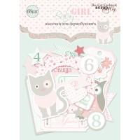 Набор высечек для скрапбукинга Baby Girl от Scrapmir, 68 шт