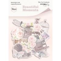 Набор высечек для скрапбукинга Beautiful Moments от Scrapmir, 36 шт