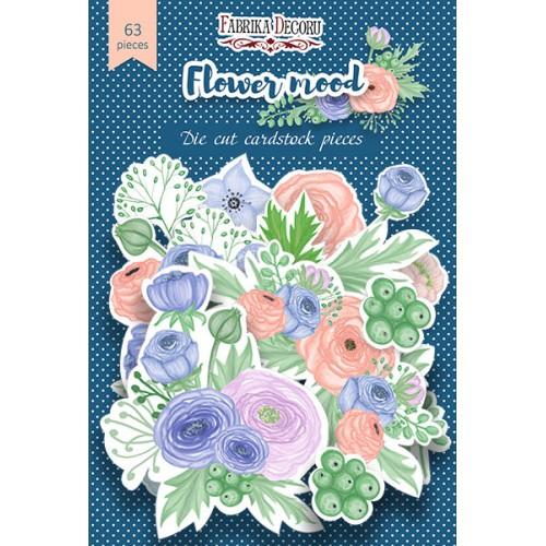 """Набор высечек """"Flower mood"""" Фабрика Декору, 63 шт"""