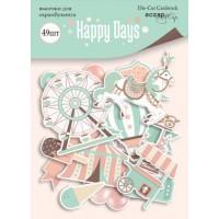 Набор высечек для скрапбукинга Happy Days от Scrapmir, 49 шт