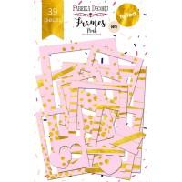 """Набор рамок с фольгированием №1 """"Pink"""" Фабрика Декору, 39 шт"""