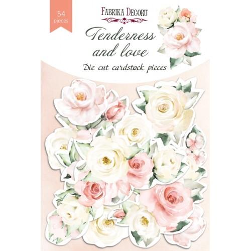 набор высечек коллекция tenderness and love 54 шт, Фабрика Декора