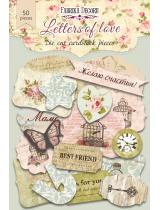 """Набор высечек, коллекция """"Letters of love-1"""", 50 шт"""