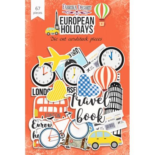 Набор высечек коллекция european holidays 67 шт, Фабрика Декора