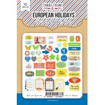 """Набор высечек, коллекция """"European holidays"""", 50 шт"""