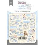 Набор высечек коллекция shabby baby boy redesign 55 шт, Фабрика Декора