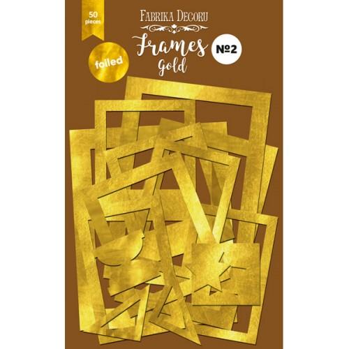 Набор рамок с фольгированием №2 gold 50шт, Фабрика Декору,