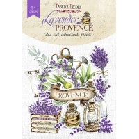 "Набор высечек ""Lavender provence"",Фабрика Декору, 54 шт"