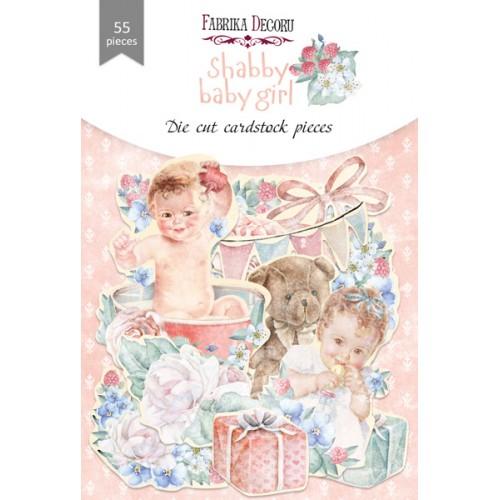 Набор высечек коллекция shabby baby girl redesign 55 шт, Фабрика Декора