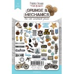 Набор высечек коллекция grunge&mechanics 77 шт, Фабрика Декора