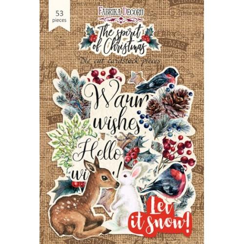 """Набор высечек, коллекция """"The spirit of Christmas"""",53шт"""