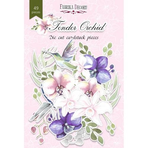 """Набор высечек """"Tender Orchid"""" Фабрика Декору, 49 шт"""
