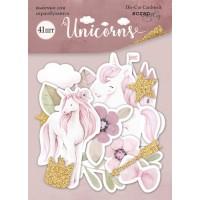 Набор высечек для скрапбукинга Unicorns от Scrapmir, 41 шт