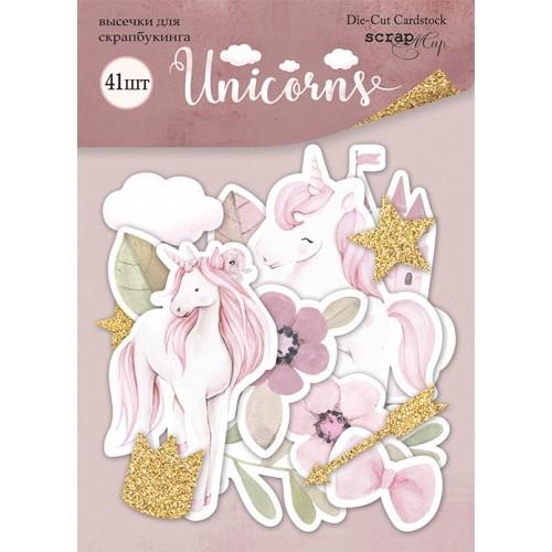 Набор высечек для скрапбукинга Unicorns от Scrapmir 41 шт фото