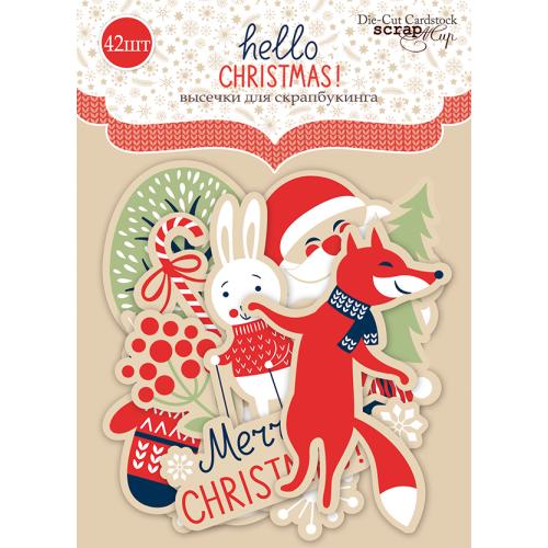 Набор высечек для скрапбукинга Hello Christmas от Scrapmir 42 шт фото
