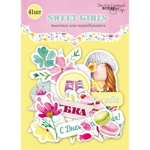 Набор высечек для скрапбукинга Sweet Girls от Scrapmir, 41 шт