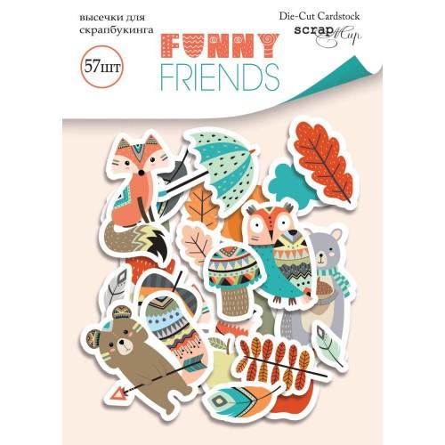 Набор высечек для скрапбукинга Funny Friends от Scrapmir, 57 шт