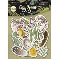 Набор высечек для скрапбукинга Cozy Forest от Scrapmir, 45 шт