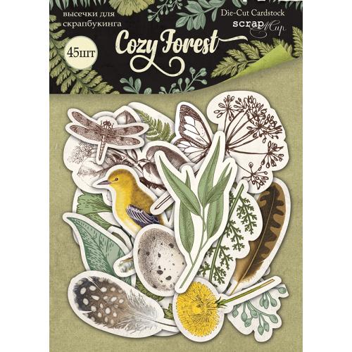Набор высечек для скрапбукинга Cozy Forest от Scrapmir 45 шт фото