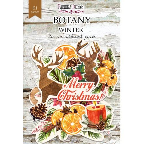 """Набор высечек """"Botany winter"""" Фабрика Декору 61 шт фото"""
