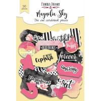 """Набор высечек """"Magnolia sky"""" Фабрика Декору, 50 шт"""