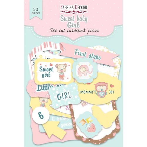 "Набор высечек ""Sweet baby girl-1"" Фабрика Декору, 50 шт"