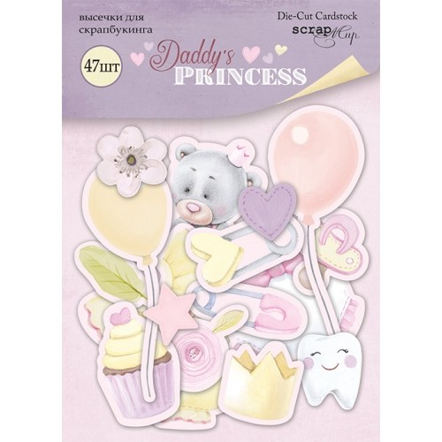 Набор высечек для скрапбукинга Daddy's Princess от Scrapmir, 47 шт
