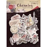 Набор высечек для скрапбукинга Charming (Очарование) от Scrapmir, 45 шт