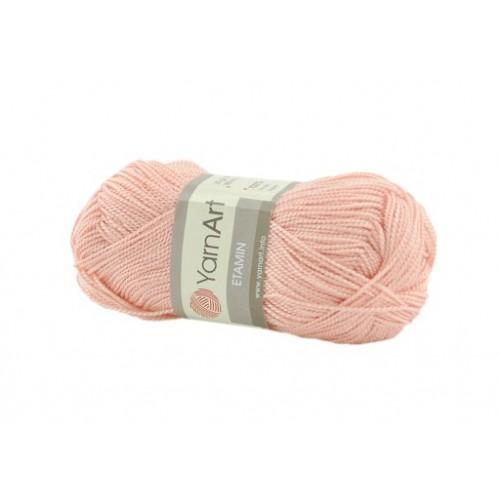 Акриловая пряжа для вязания YarnArt Etamin персиковый № 456 фото