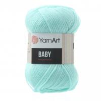 Акриловая пряжа для вязания YarnArt Baby, Светлая бирюза №856