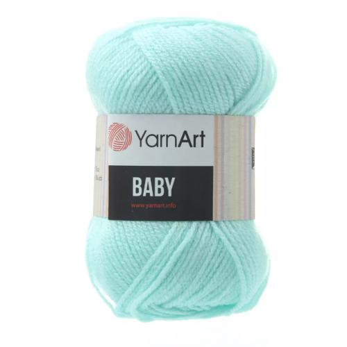 Акриловая пряжа для вязания YarnArt Baby, Светлая бирюза №856, фото