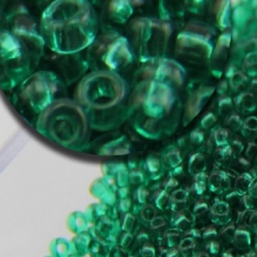 Бисер калиброванный. Изумрудно-зеленый. 5 г