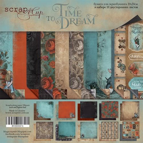 Набор двусторонней бумаги Time to Dream (eng.) 20х20см от Scrapmir фото