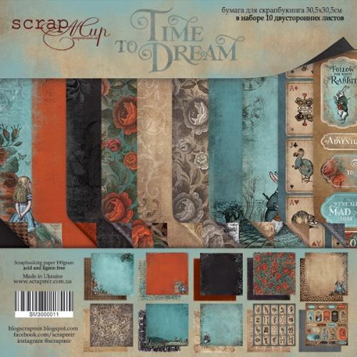 Набор двусторонней бумаги Time to Dream (eng.) 30х30 см от Scrapmir фото