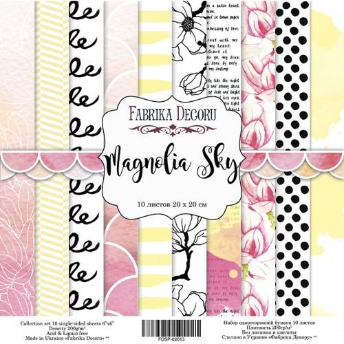 """Набор скрапбумаги """"Magnolia Sky"""" 20x20 см Фабрика Декору фото"""