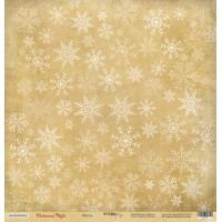Лист односторонней бумаги 30x30 от Scrapmir Метель из коллекции Christmas Night