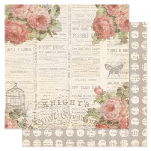 Лист двусторонней бумаги 30x30 Pink Paislee - London Market Collection Double Sided Paper Addington