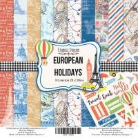 """Набор скрапбумаги """"European holidays"""" 20x20см, Фабрика Декору"""