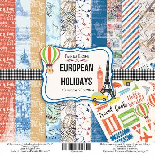 "Набор скрапбумаги ""European holidays"" 20x20см Фабрика Декору фото"
