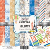 "Набор скрапбумаги ""European holidays"" 30,5x30,5см, Фабрика Декору"