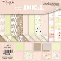 Набор двусторонней бумаги Doll Baby 30х30см от Scrapmir