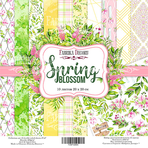 "Набор скрапбумаги ""Spring Blossom"" 20x20см Фабрика Декору фото"
