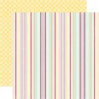 Лист двусторонней бумаги 30x30 Echo Park Paper co, Delightful Stripe, Springtime