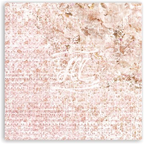 Лист односторонней бумаги Splendor из коллекции Pink Flower Collection, 30*30 см. Artistic Line