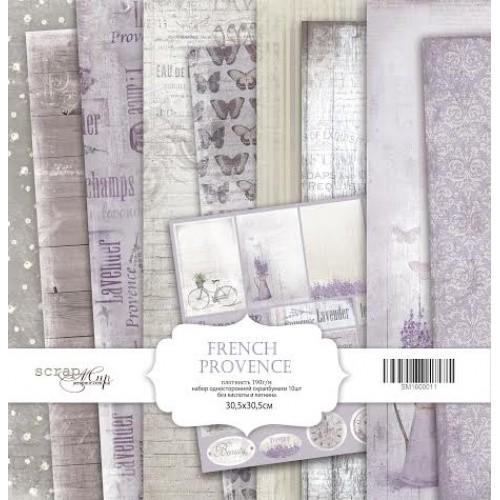 Набор односторонней бумаги French Provence  30х30см от Scrapmir фото